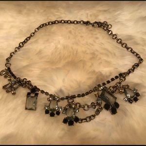 J. CREW 🖤 Asymmetrical Chunky Rhinestone Necklace